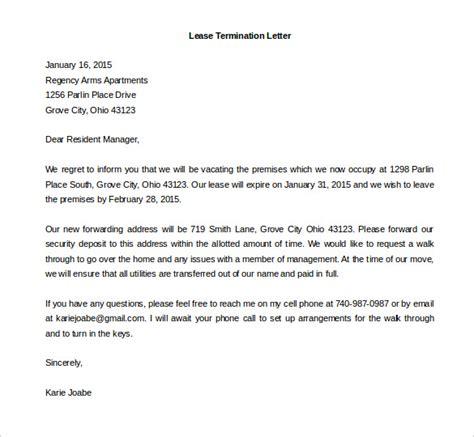 rental termination letter lease termination letter templates 23 free sle 24273