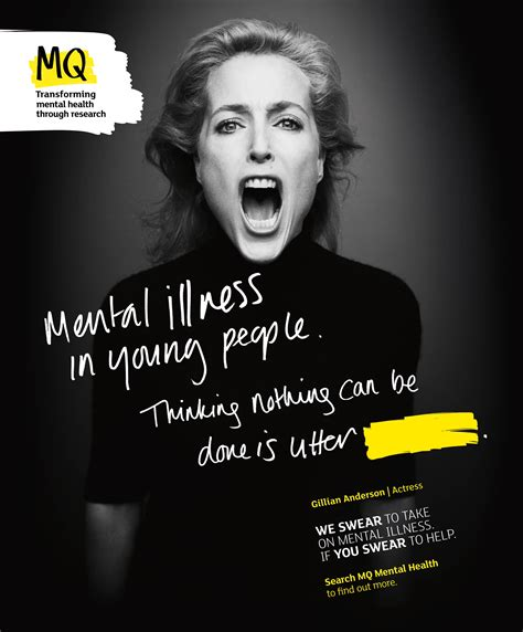 gillian anderson pushes  mental health cure