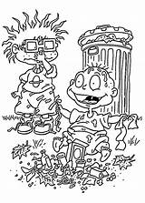 Coloring Pages Trash Rugrats Cartoon Printable Dylan Pickle Cartoons Characters Books Sheets Template 4kids Pickles Sheet Jar Angelica sketch template