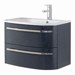 Meuble Sous Vasque 70 Cm : meuble sous vasque elbe gris droit 70 cm castorama ~ Teatrodelosmanantiales.com Idées de Décoration