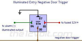 Neg Relay Switch Wiring Diagram by Wire Diagram Negative Door Trigger Relay With Fade
