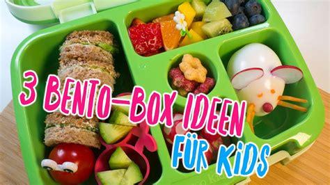 3 tolle Bento Box Ideen für Kids  Frühstück und Snacks