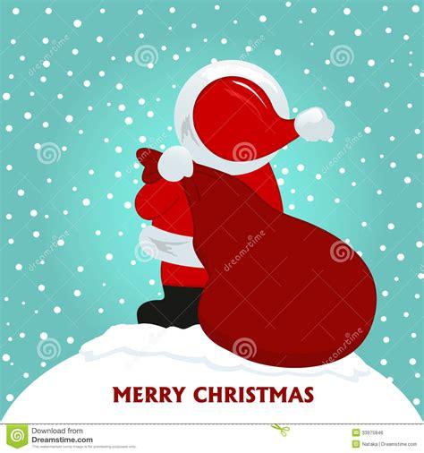 Santa Claus Card By Benchart Vectors Eps Card With Santa Claus Stock Vector Image 33975846