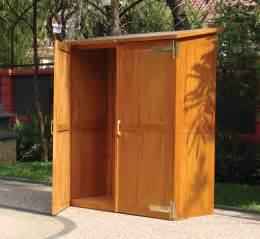 hardwood garden storage cabinet