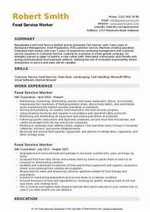 Food Service Resume Food Service Worker Resume Samples Qwikresume