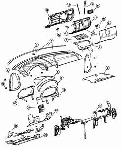 2004 Chrysler Crossfire Cover  Instrument Panel  Steering