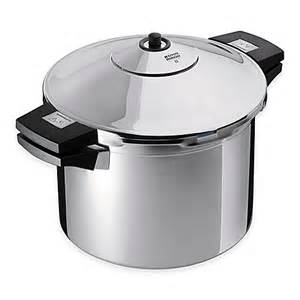 kuhn rikon duromatic 8 qt stainless steel stock pot pressure cooker www bedbathandbeyond