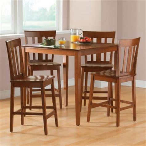 corner dining room table walmart mainstays 5 counter height dining set cherry