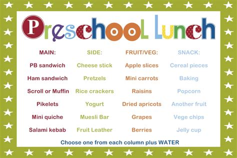 sahm i am stay at home taking the guesswork out of 392 | Preschool lunch