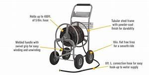 Strongway Hose Reel Cart  8in  Hose