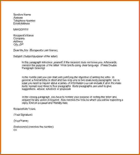 how to write a formal letter 9 how to write a formal letter format lease template 56834