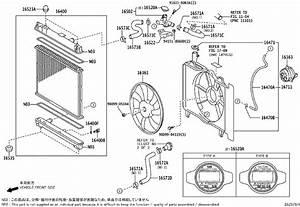 2008 Toyota Yaris Engine Cooling Fan Shroud  Housing Or