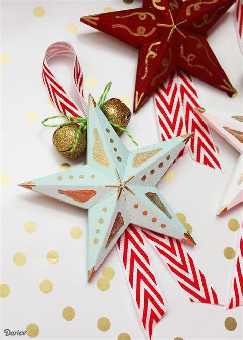 christmas star ornaments diy ornaments craft tutorial darice