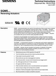 Siemens Sqm5 Users Manual