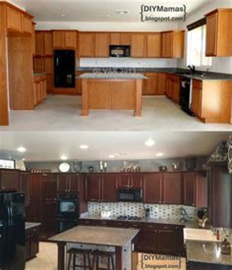 how is a kitchen cabinet kitchen cabinet makeover 2 coats of minwax polyshade 8487