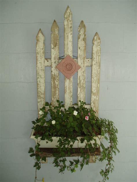 hometalk  picket fence planter