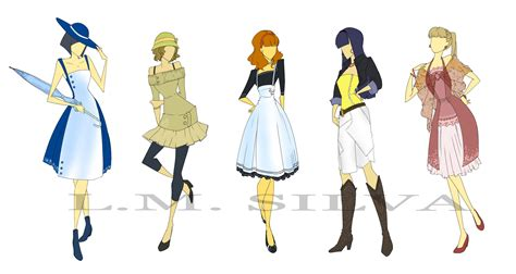 clothes design fashion designs 01 by elleoser on deviantart