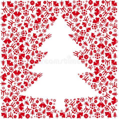 193 rbol de navidad rojo del vector ilustraci 243 n del vector