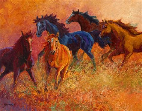 range wild horses painting  marion rose