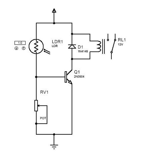 Circuit Desolator Simple Light Dark Activated Switch