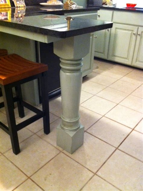 wood kitchen island legs island leg supports kitchen island project