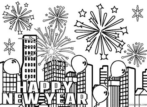Printable New Years Coloring Pages For Kids