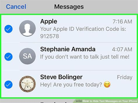 hide text messages iphone 4 ways to hide text messages on your iphone wikihow