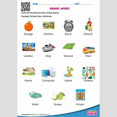 Free Printable Naming Words Worksheets For The Kids Of Kindergarten Here The Kids Have To Look