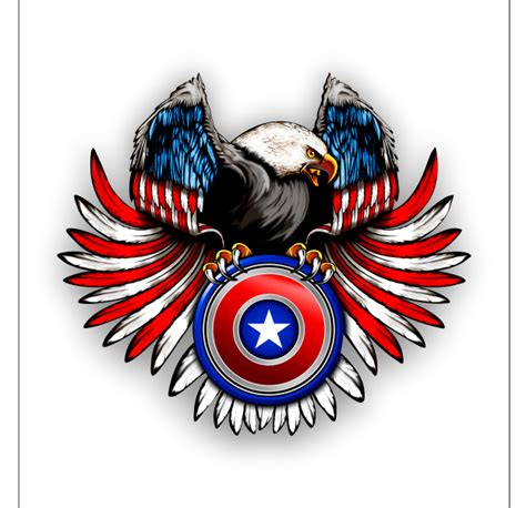 americn flag eagle  shield sticker decal  images