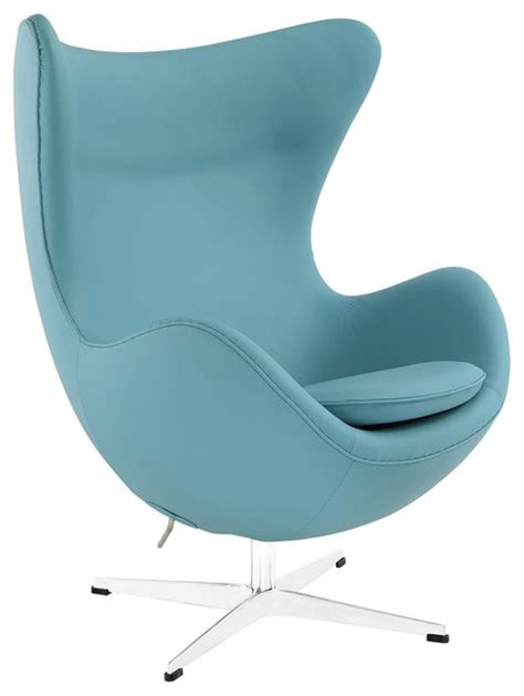 italian leather lounge chair baby blue contemporary
