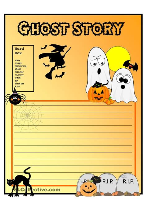 creative writing ghost story form with vocabulary grade
