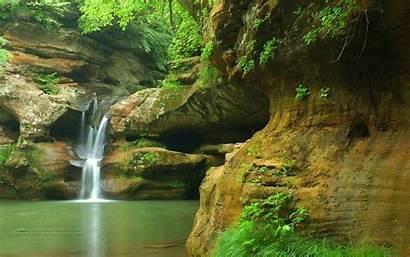 Waterfall Nature Pond Waterfalls Pc Desktop Wallpapers