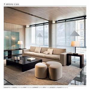 Some Products Of Armani  Casa  Sofa Canaletto  Coffee Table Danzica  Small Tables Paris