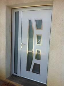 Porte D Entrée Blanche : porte aluminium blanche mesdemos ~ Melissatoandfro.com Idées de Décoration