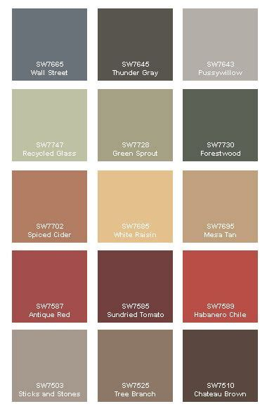 rustic paint colors on pinterest cabin paint colors