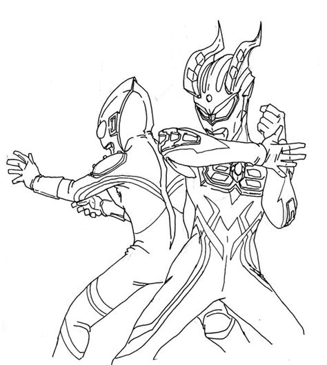 Coloring Ultraman Pictures ultraman zero coloring pages coloring pages