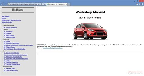 Ford Focus 2013 Workshop Repair Manual