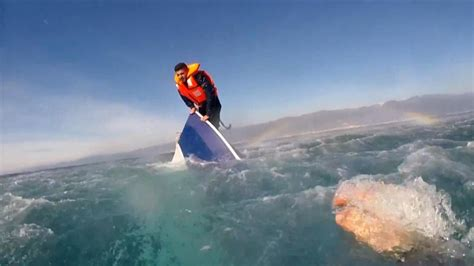 Sinking Boat by Dramatic Rescue Of Migrant From Sinking Boat