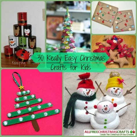 30 really easy christmas crafts for kids