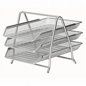 mesh 3 tier letter tray silver staplesr With tiered letter tray