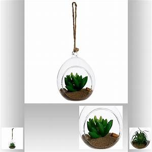 Grande Plante Artificielle : plante artificielle suspendue dans boule d co boule verre pas cher ~ Teatrodelosmanantiales.com Idées de Décoration