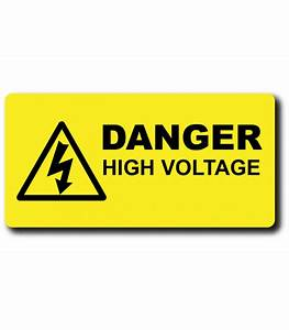 danger high voltage label laser engravedcouk With high voltage warning label requirements