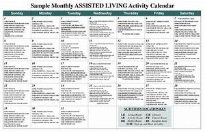 sample monthly assisted living activity calendar pdf With activity calendar template for seniors