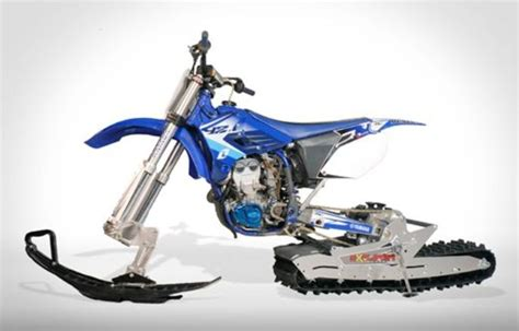 Worlds collide with this dirt bike snow track conversion ...