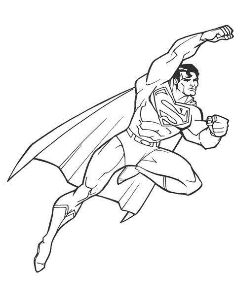 Superman Coloring Pages For Kids Coloringstar