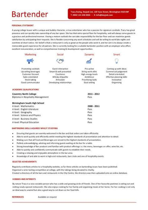 resume template microsoft word mac professional resume exle bartender resume template