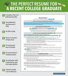 resume for recent graduate 8 reasons this is an excellent resume for a recent college graduate business insider