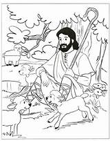 Shepherd Coloring Jesus Pages Sunday Sheep Lost Bible Lord Sheets Clipart Activities Parable Amazing Crafts Colouring Craft Clip Testament Preschool sketch template