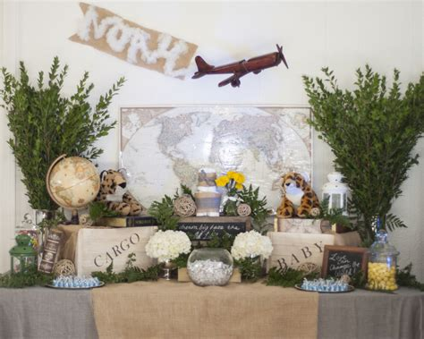 Travel Themed Baby Shower - vote january finalists project nursery