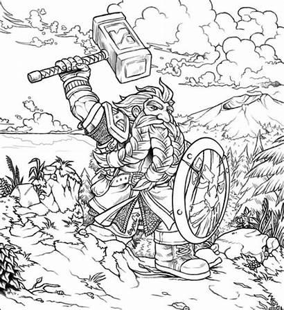 Coloring Warcraft March Dwarf Pages Deviantart Printable